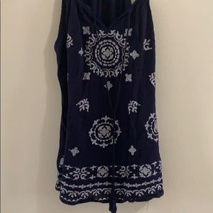 Navy blue tank top with patter size